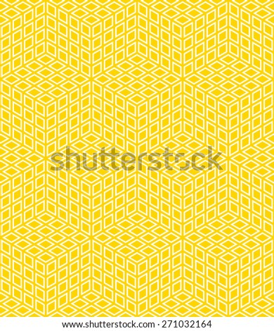 seamless isometric grid pattern of cubes. each color in separate layer. - stock vector