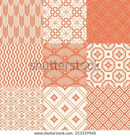 seamless japanese pattern - stock vector