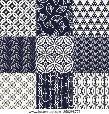 seamless japanese traditional mesh pattern