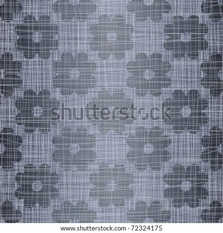 Seamless jeans background with colors - stock vector