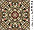 seamless kaleidoscope pattern - vector illustration - stock photo