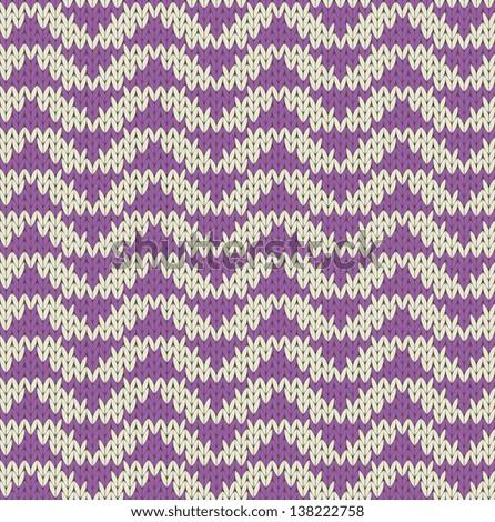 Seamless knit pattern imitation - stock vector