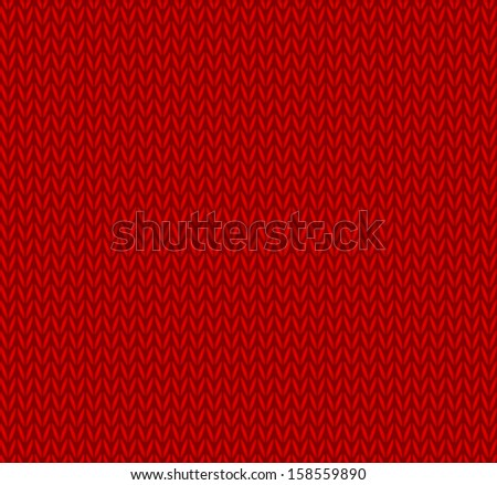 Seamless knitted background - stock vector