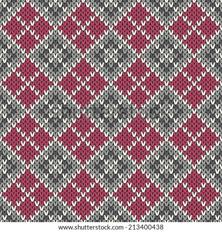 Seamless knitted geometric pattern. Vector illustration - stock vector