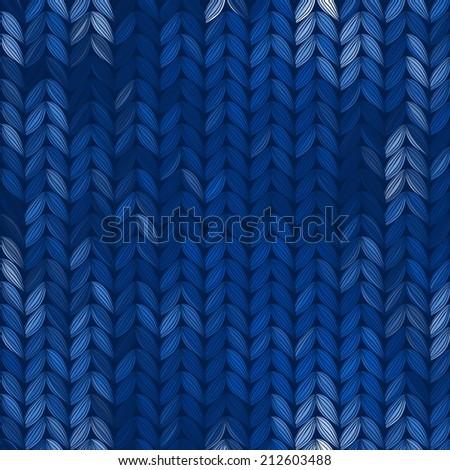 Seamless knitted pattern, vector illustration. - stock vector