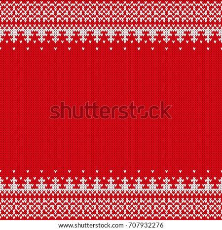 Seamless Knitting Pattern Norwegian Sweater Ornaments Stock Vector