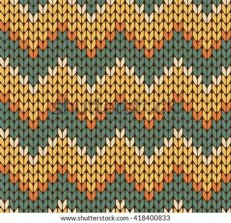 Seamless knitting zigzag pattern