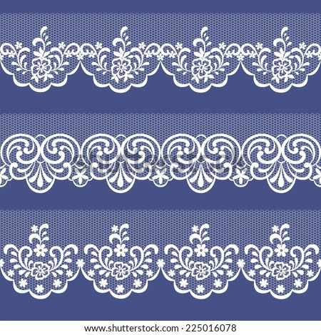 seamless lace abstract floral background - stock vector