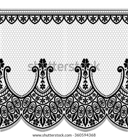 Seamless lace pattern, flower vintage vector background. - stock vector