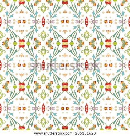 Seamless laced flourish pattern - stock vector