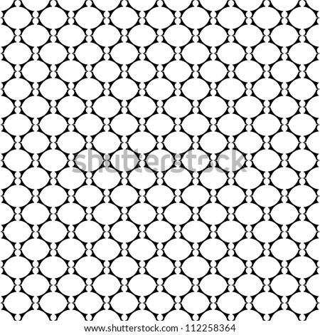 Seamless laced texture with oval elements. Vector art. - stock vector