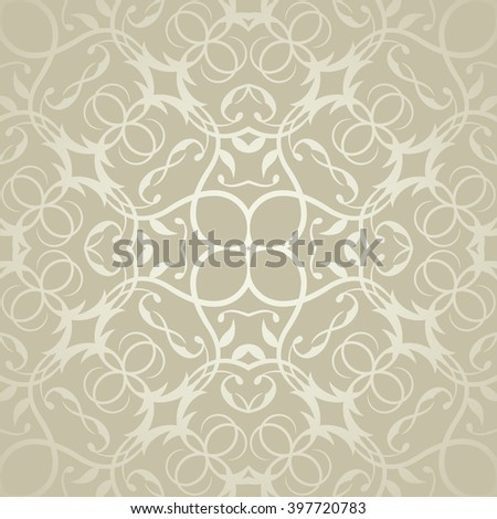 Seamless Lacy template. Vintage wallpaper in a silver . Can be used for decoupage, background for cards and invitations