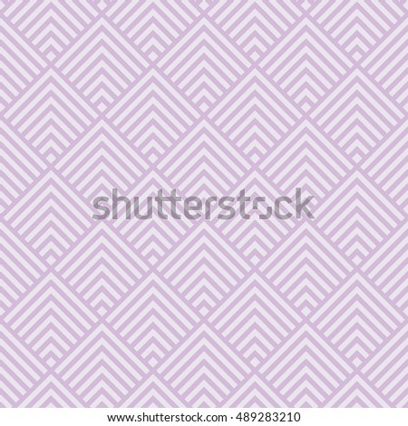 Seamless lavender purple art deco square chevrons pattern vector