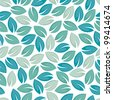 Seamless leaf pattern. - stock vector