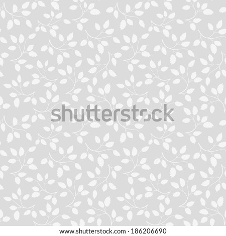 Seamless leaf pattern. Vector - stock vector