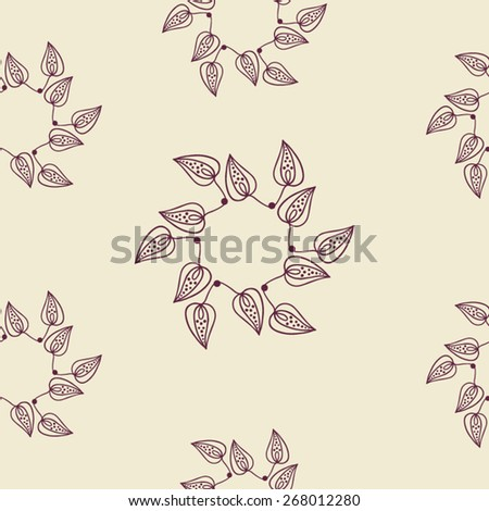 Seamless  leafs pattern - stock vector