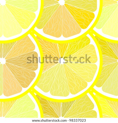 Seamless Lemon Pattern Vector