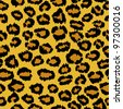 seamless leopard background - stock vector