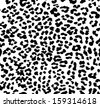 Seamless leopard pattern - stock vector