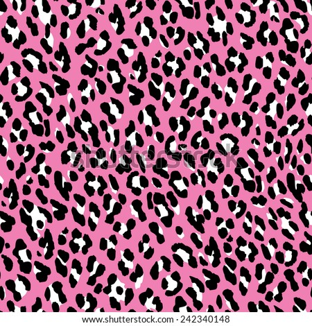 Seamless leopard pattern. Pink fur leopard print. Leopard skin background.