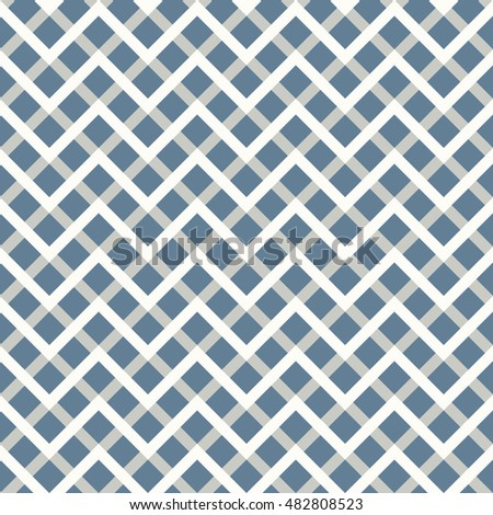 Seamless light blue overlaying zigzag pattern vector