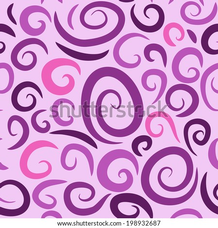 Seamless lilac texture with curls (Vector)