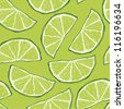 Seamless lime pattern - stock vector
