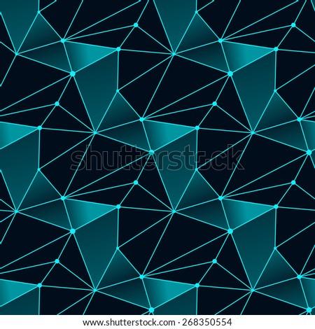Seamless line pattern tile background geometric - stock vector
