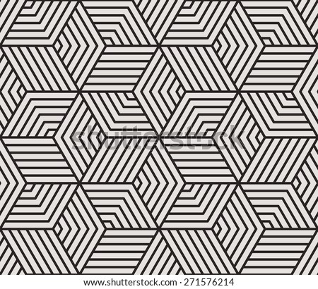 Seamless linear pattern. Stylish texture with repeating geometric shapes. - stock vector