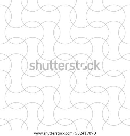 Seamless linear pattern with thin elegant curved lines forming floral ornamental wallpaper. Abstract texture. Geometric light background.