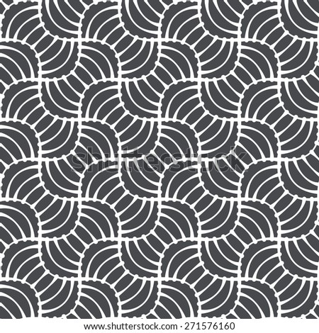 Seamless linear pattern with thin lines and curls.Abstract Vector Illustration.