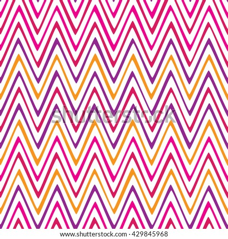 Seamless lines pattern with colorful stripes on a white background
