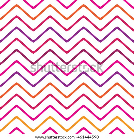 Seamless lines pattern with colorful stripes on a white background. Vector repeating texture.