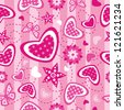 Seamless love pattern - stock photo