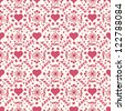 Seamless 'love' pattern with lettering - stock vector
