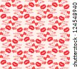 Seamless love vector pattern with grunge design. - stock
