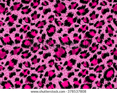Seamless luxury  pink leopard pattern. Vector