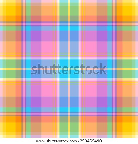 Seamless madras plaid pattern - stock vector