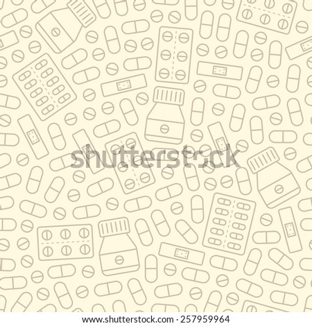 seamless medical background pattern