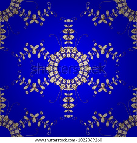 Seamless medieval floral royal pattern gold stock vector hd royalty seamless medieval floral royal pattern gold on blue white and brown colors decorative stopboris Choice Image