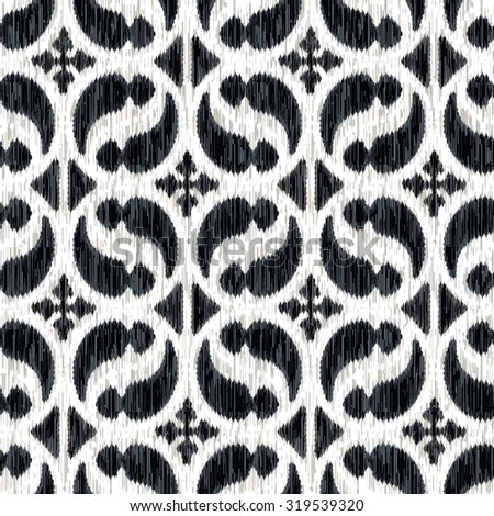 Seamless Medieval German Ornament Background Pattern