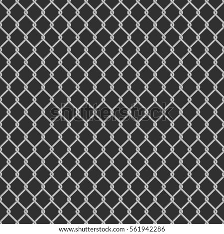 Seamless Metal Chain Link Fence On Stock Vector 561942286