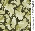 Seamless Military Camouflage/ Illustration of a military camouflage with green shades for army background wallpapers - stock photo