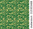 Seamless military camouflage pattern. The woodland pattern consists of dark green, forest green, light khaki and khaki colors - Vector and illustration - stock vector