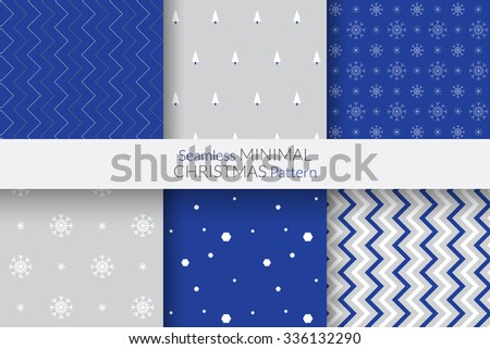 Seamless Minimal Christmas Pattern - stock vector
