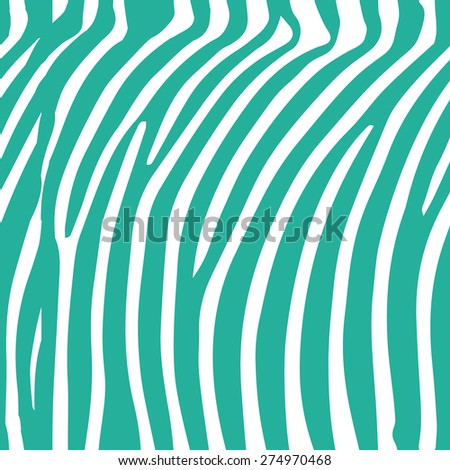 Seamless mint and white zebra skin pattern vector - stock vector