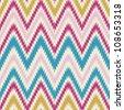 Seamless modern and trendy zig zag chevron background pattern - stock vector