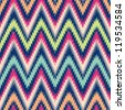 Seamless modern chevron background pattern - stock photo