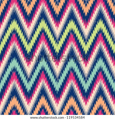 Seamless modern chevron background pattern - stock vector