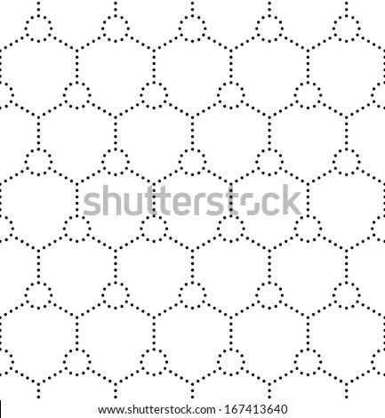 Seamless Molecular Pattern - stock vector